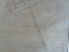 Initial drawing of sign on transparent paper